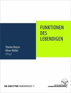 Funktionen des Lebendigen (eBook, PDF)