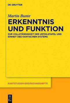 Erkenntnis und Funktion (eBook, ePUB) - Bunte, Martin
