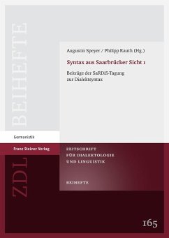 Syntax aus Saarbrücker Sicht 1 (eBook, PDF)