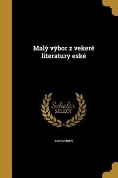 Cze Maly Vybor Z Vekere Litera Als Taschenbuch Portofrei Bei Bücherde