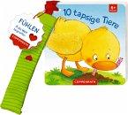 Mein erstes Fühl-Buch für den Buggy: 10 tapsige Tiere