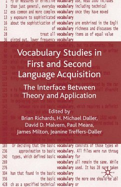 Vocabulary Studies in First and Second Language Acquisition (eBook, PDF)