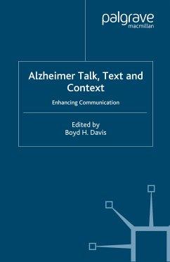Alzheimer Talk, Text and Context (eBook, PDF)