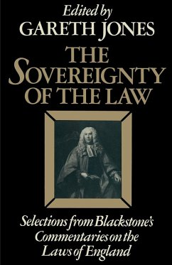 The Sovereignty of the Law (eBook, PDF) - Blackstone, Sir William