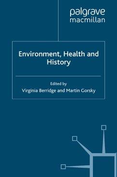 Environment, Health and History (eBook, PDF)