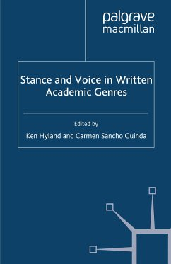 Stance and Voice in Written Academic Genres (eBook, PDF)