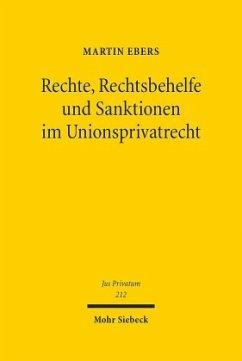 Rechte, Rechtsbehelfe und Sanktionen im Unionsprivatrecht - Ebers, Martin