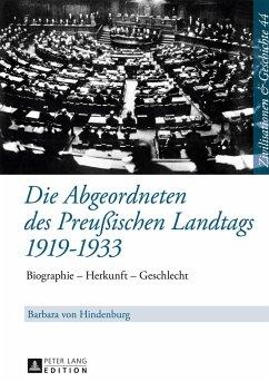 Die Abgeordneten des Preußischen Landtags 1919-1933 - Hindenburg, Barbara von