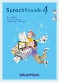 Sprachfreunde 4. Schuljahr- Ausgabe Nord (Berlin, Brandenburg, Mecklenburg-Vorpommern) - Sprachbuch mit Grammatiktafel und Lernentwicklungsheft
