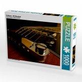 Nahaufnahme eines E-Gitarrensteges, 1000 Teile