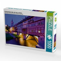 Krämerbrücke über die Gera in Erfurt (Puzzle)