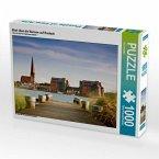 Blick über die Warnow auf Rostock (Puzzle)