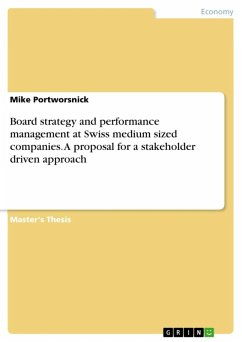 9783668314016 - Portworsnick, Mike: Board strategy and performance management at Swiss medium sized companies. A proposal for a stakeholder driven approach (eBook, ePUB) - Buch