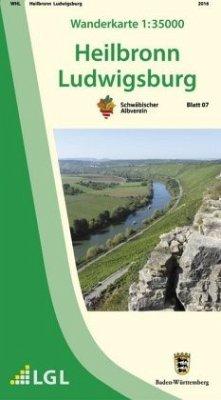 Topographische Wanderkarte Baden-Württemberg Heilbronn, Ludwigsburg