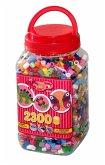 Hama 8586 - Maxi Bügelperlen Dose mit ca. 2300 Maxiperlen, bunter Mix