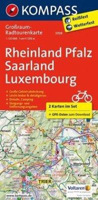 Kompass Großraum-Radtourenkarte Rheinland-Pfalz...