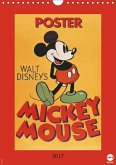 Disney Classic-Poster Mickey Mouse (Wandkalender 2017 DIN A4 hoch)