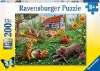Ravensburger 12828 - Entdecker auf vier Pfoten, Puzzle 200 Teile, XXL Format