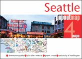 Seattle Popout Map, 2 maps