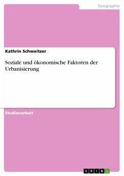 9783668316096 - Schweitzer, Kathrin: Soziale und ökonomische Faktoren der Urbanisierung - Buch