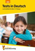 Tests in Deutsch - Lernzielkontrollen 3. Klasse (eBook, PDF)