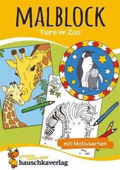 Malblock - Tiere im Zoo (eBook, PDF)