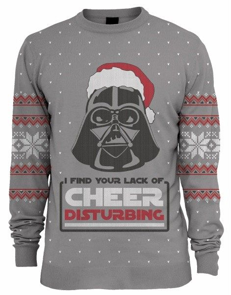 star wars darth vader xmas pullover m. Black Bedroom Furniture Sets. Home Design Ideas