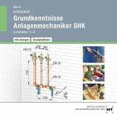 Grundkenntnisse Anlagenmechaniker SHK, Lernfelder 1-4, Arbeitsheft mit eingedruckten Lösungen, CD-ROM