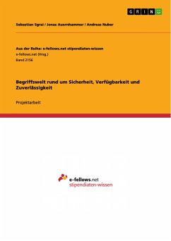 9783668316270 - Sgrai, Sebastian; Auernhammer, Jonas; Nuber, Andreas: Begriffswelt rund um Sicherheit, Verfügbarkeit und Zuverlässigkeit (eBook, PDF) - Buch
