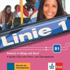 4 Audio-CDs zum Kurs- und Übungsbuch / Linie 1 - Dengler, Stefanie; Hoffmann, Ludwig; Kaufmann, Susan; Moritz, Ulrike; Rodi, Margret; Rohrmann, Lutz; Rusch, Paul; Sonntag, Ralf