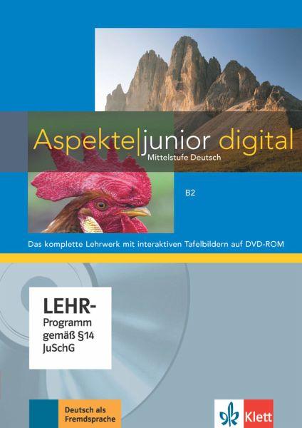 Lehrwerk digital mit interaktiven Tafelbildern B2, DVD-ROM / Aspekte junior