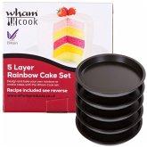 Teflon Kuchenformset Für Mehrschichtige Torten,5 S