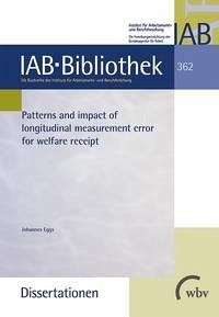 Patterns and impact of longitudinal measurement error for welfare receipt