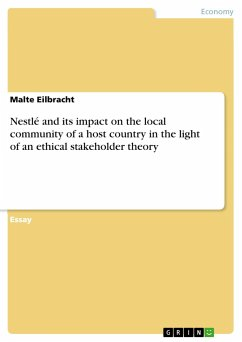 Nestlé and its impact on the local community of a host country in the light of an ethical stakeholder theory