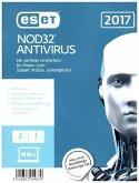 ESET NOD32 Antivirus 2017 Edition 3 User (FFP), 1 CD-ROM