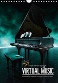 VIRTUAL MUSIC - Musikinstrumente in Hyperrealistischen Illustrationen (Wandkalender 2017 DIN A4 hoch)