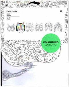 Masken, Colouring Activity, 6 Stück