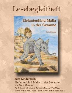 Elefantenkind Malla in der Savanne - Lesebegleitheft - Thomas, Doris