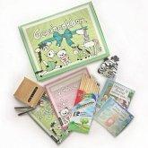 Geschenkbox, m. Ausmalbüchern, Audio-CDs u. Stiften
