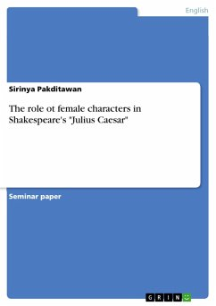 The role ot female characters in Shakespeare's