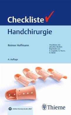 Checkliste Handchirurgie (eBook, ePUB) - Hoffmann, Reimer