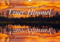 9783665560959 - Schiedl, Bernd: Feuer am Himmel - Sonnenuntergänge (Wandkalender 2017 DIN A3 quer) - کتاب
