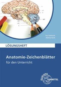 Anatomie-Zeichenblätter für den Unterricht, Lösungsheft - Gebhardt, Paul; Bardl, Mathias