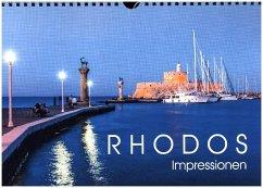 9783665560416 - Dieterich, Werner: RHODOS Impressionen (Wandkalender 2017 DIN A4 quer) - Buch
