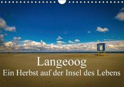 9783665560010 - Thiele, Tobias: Langeoog - Ein Herbst auf der Insel des Lebens (Wandkalender 2017 DIN A4 quer) - کتاب