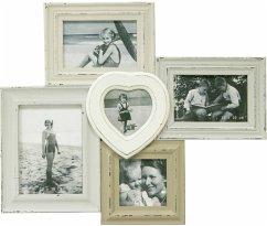 Henzo Vintage Gallery 5 Fotos Holz weiß 8120802