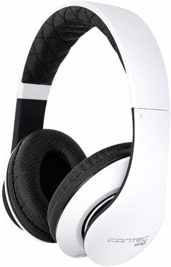 FANTEC SHP-3 weiss/schwarz Stereo On-Ear Kopfhörer mit Mikrofon, A