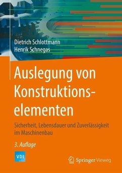 Auslegung von Konstruktionselementen (eBook, PDF) - Schlottmann, Dietrich; Schnegas, Henrik