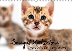 9783665562946 - Enderlein - Bethari Bengals, Sylke: Bengal Kätzchen - Der Geburtstagskalender (Wandkalender 2017 DIN A3 quer) - کتاب