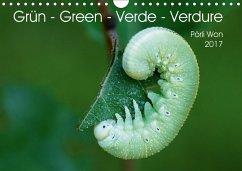 9783665563585 - Won, Pörli: Grün - Green - Verde - Verdure (Wandkalender 2017 DIN A4 quer) - Livre